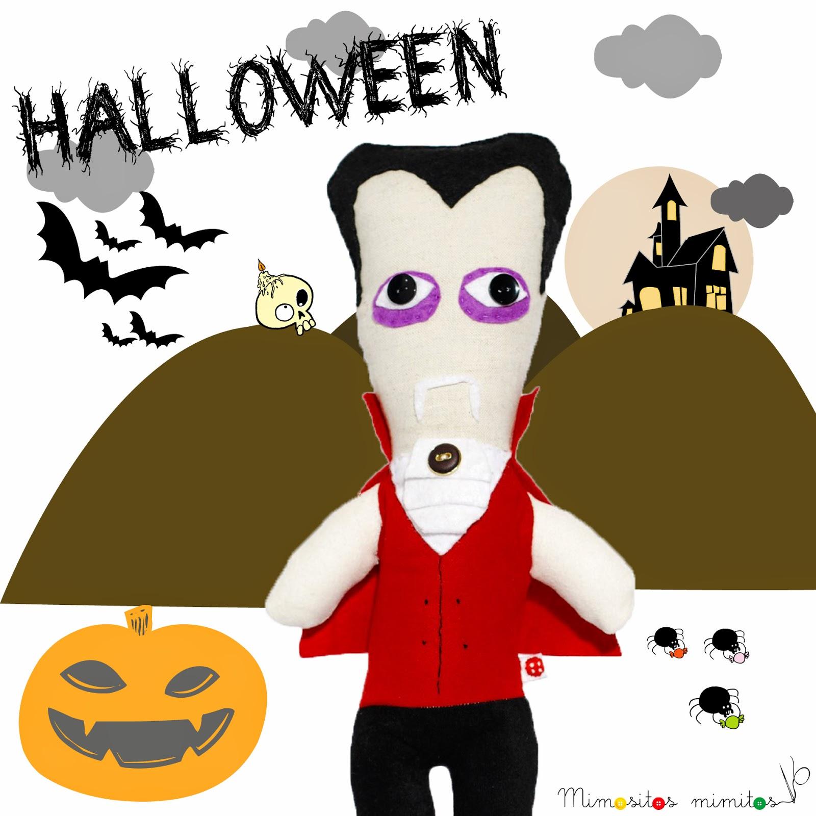 halloween dracula muñeco hecho a mano handmade stuffed toy todos los santos