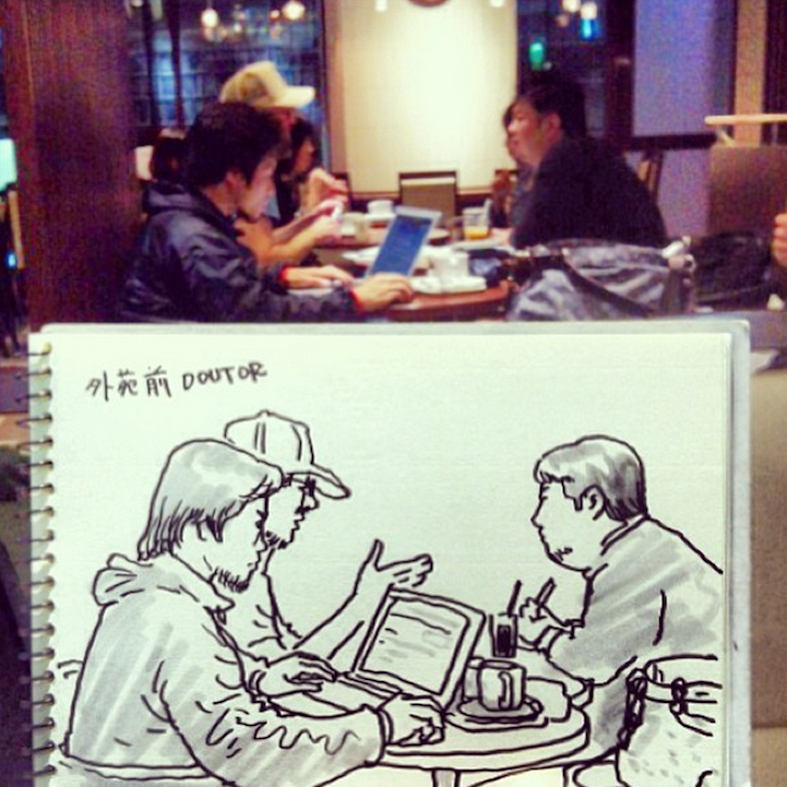 Everyday Scenes Playfully Turned into Speed Sketches