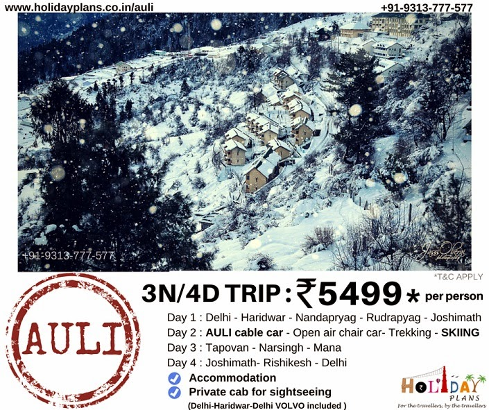 cheap holiday packages for Auli Uttarakhand in India