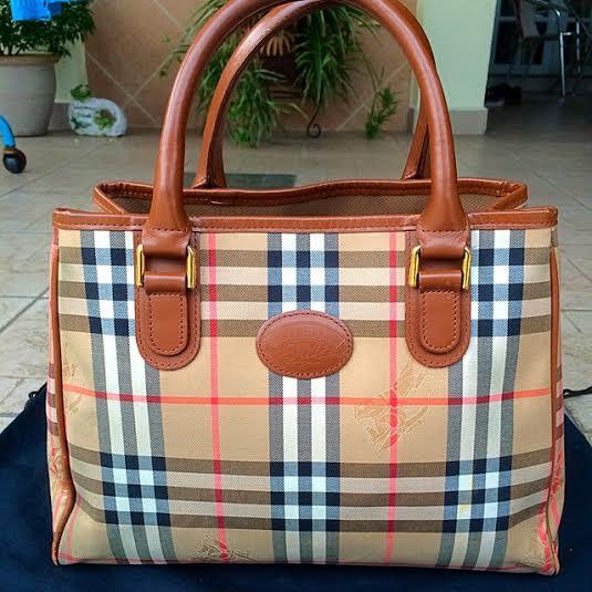 Truly Vintage  Authentic VTG Burberry s London Medium Tote Bag 5e1baa0dcf