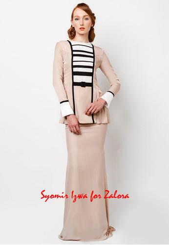 high fashion baju kurung dress design baju raya 2014 by Syomir Izwa