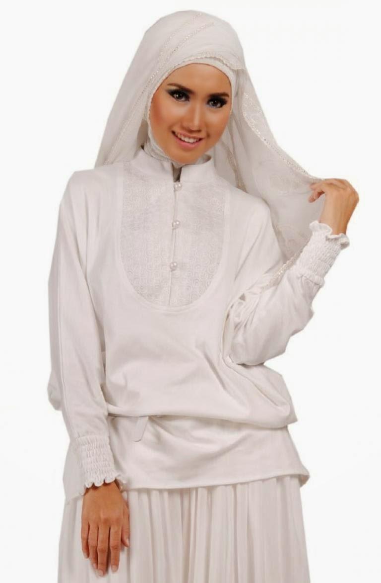 Model Baju Muslim Anak Perempuan Warna Putih Polos Dan