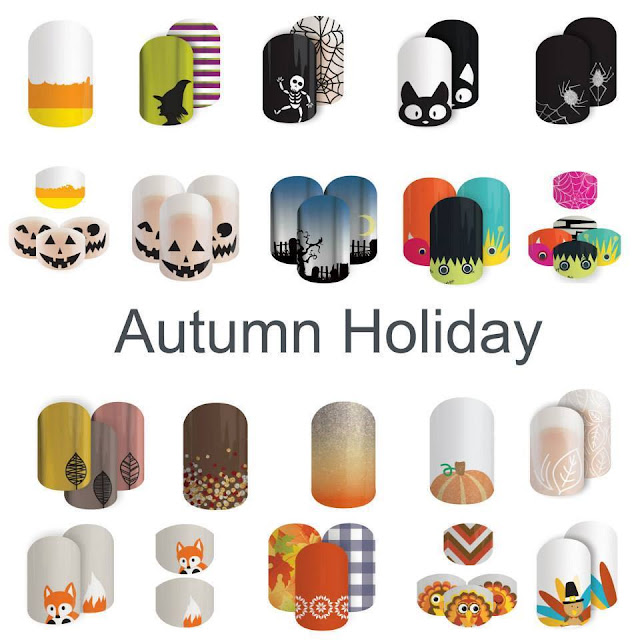 Jamberry nail wraps autumn fall halloween nail wraps