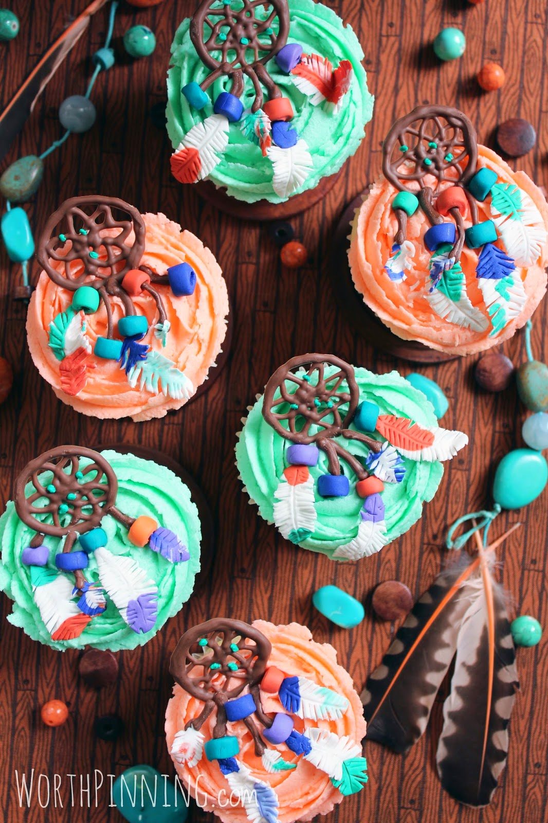 Worth Pinning Dream Catcher Cupcakes
