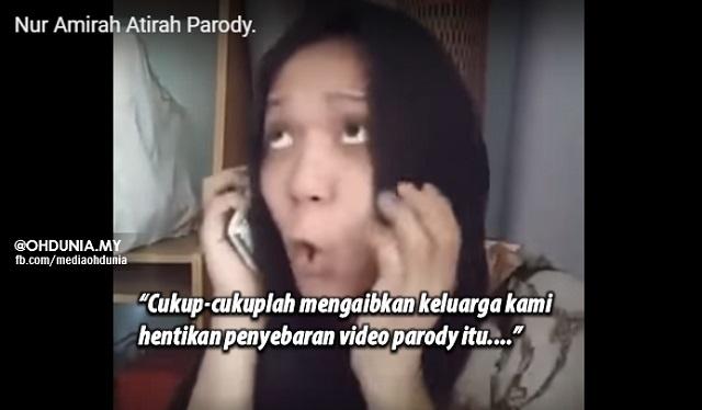 Bapa Amirah Athirah Minta Hentikan Video Parody Dubsmash Yang Mengaibkan