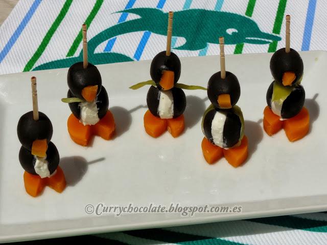 Pingüinos de aceitunas negras