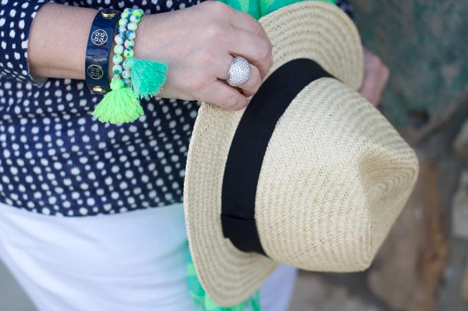 neon-green-tassel-bead-bracelets