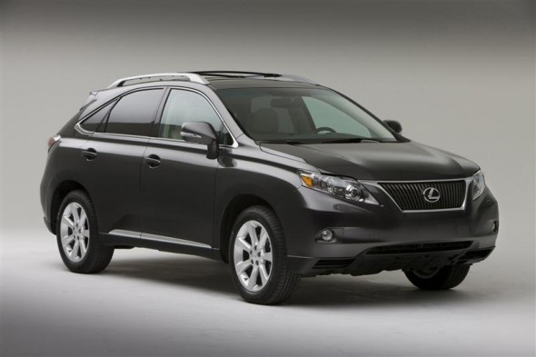 Front 3/4 view of 2011 Lexus RX350