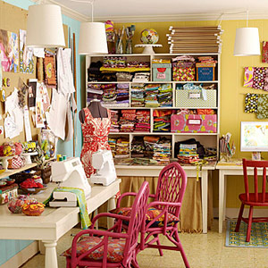 Purple sage originals designing a new sewing and craft room - Craft area for small spaces property ...