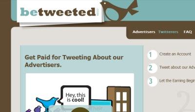 Cara mendapatkan uang dari BeTweeted