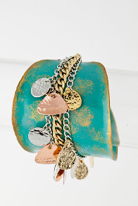 Turquoise Patina Dangle Cuff