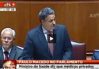 Paulo Macedo Ministro da Saúde Administrador Millenium BCP Seguros de Saúde Médis UM BANQUEIRO NA SAÚDE  Quer Acabar Com Serviço Nacional de Saúde