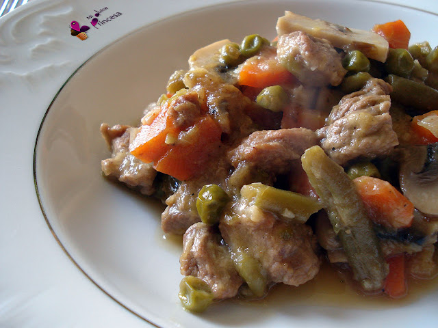 cerdo, magro de cerdo, receta salada, reto tía alia, verduras, ragu