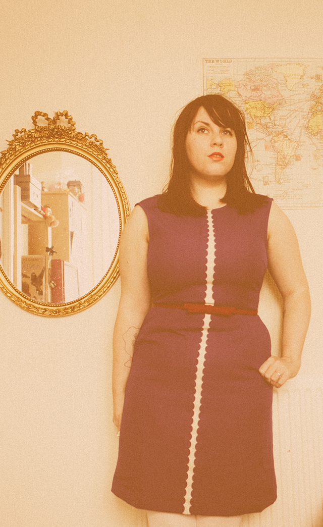 what i wore   royal blue 60s style dress