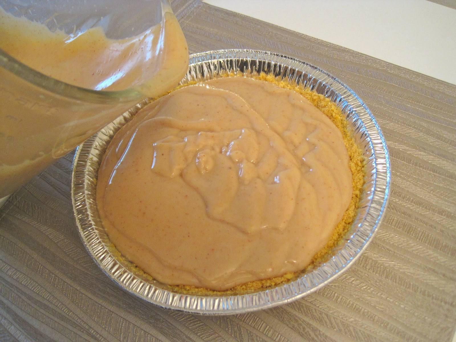 Preparing Peanut Butter Cheesecake - Vegan