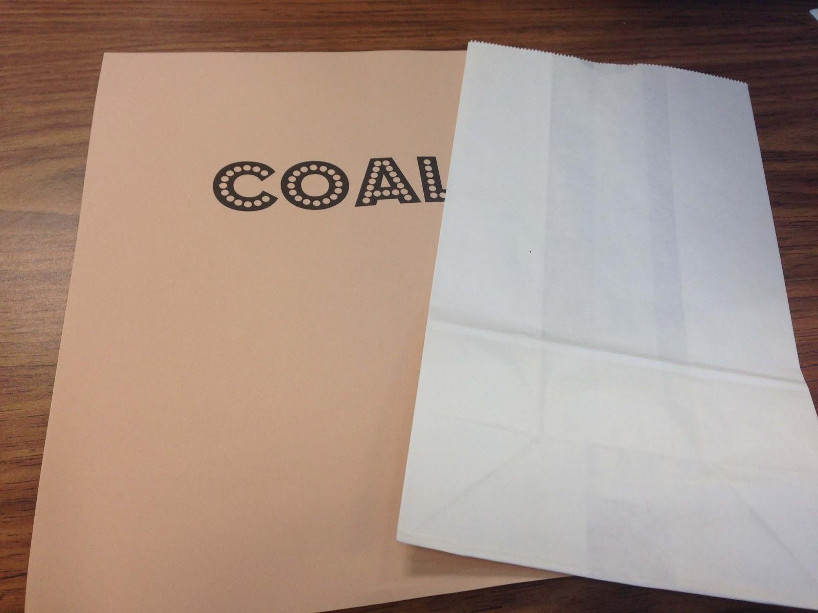 Christy: Coal Gift Bags