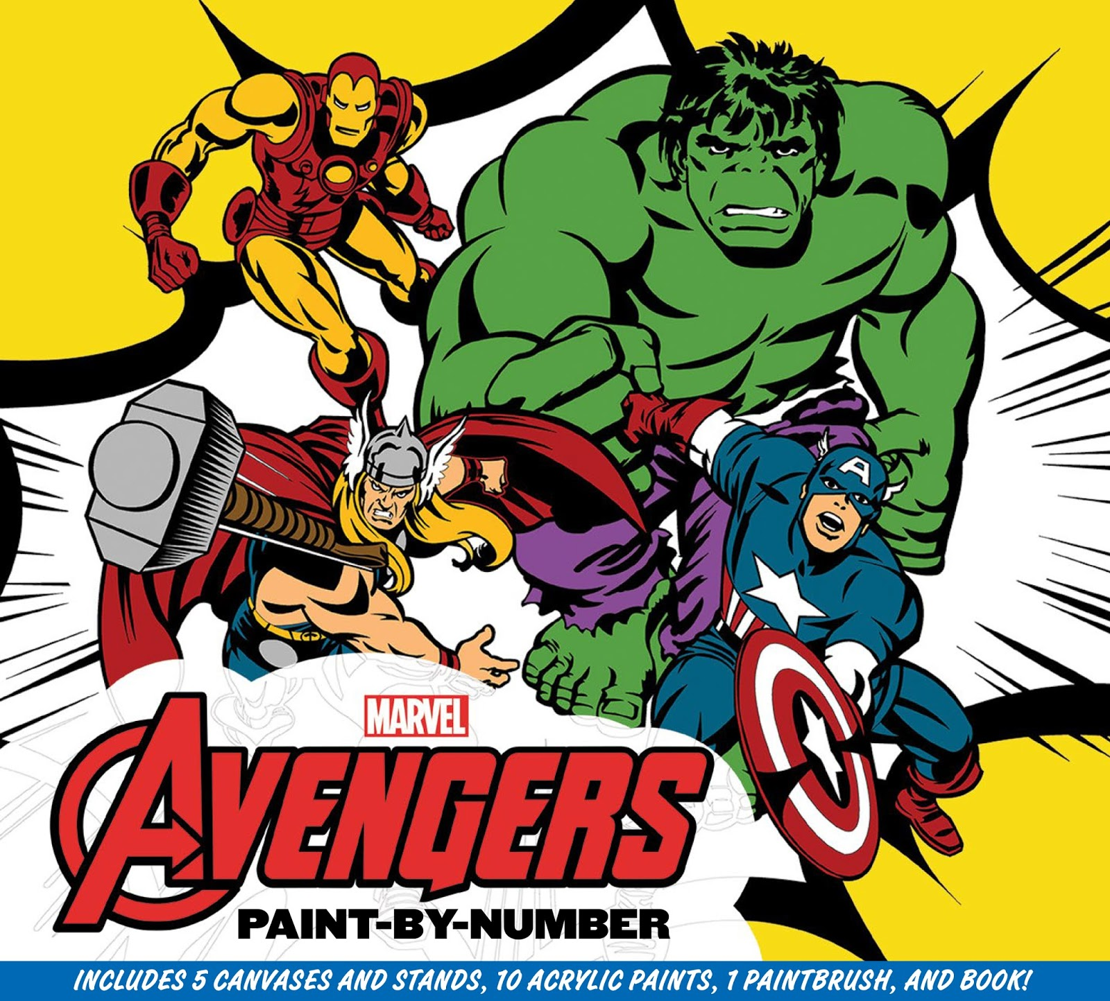 2015 Roundup: Marvel: The Avengers Paint-By-Number | Daniel ...