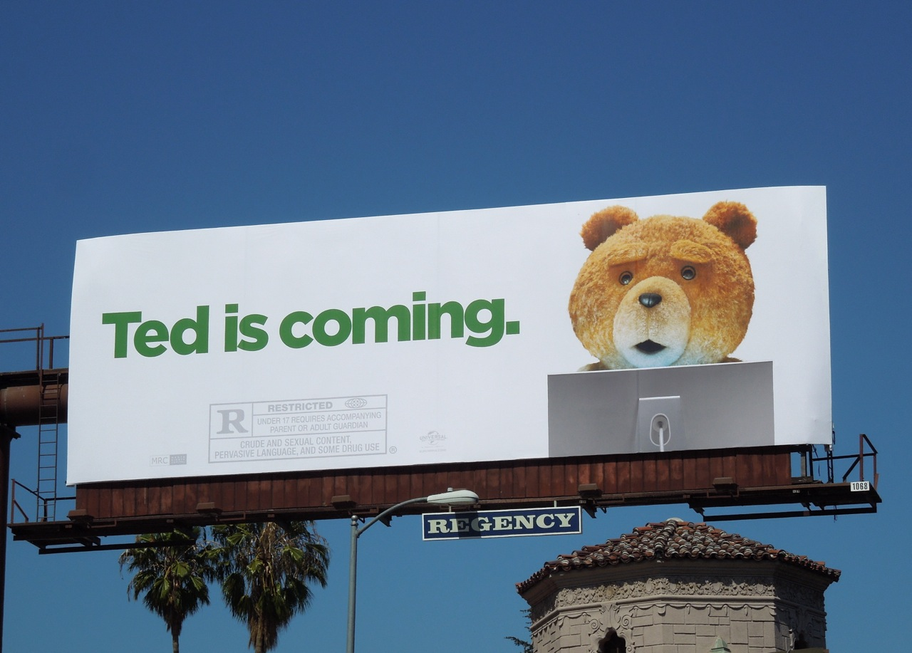 Daily Billboard: Ted movie billboards... Advertising for Movies TV ...
