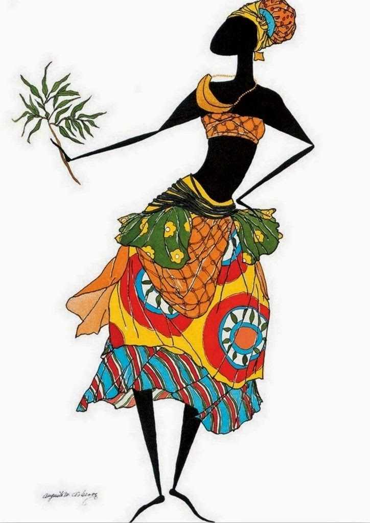 pinturas-modernas-de-mujeres-africanas