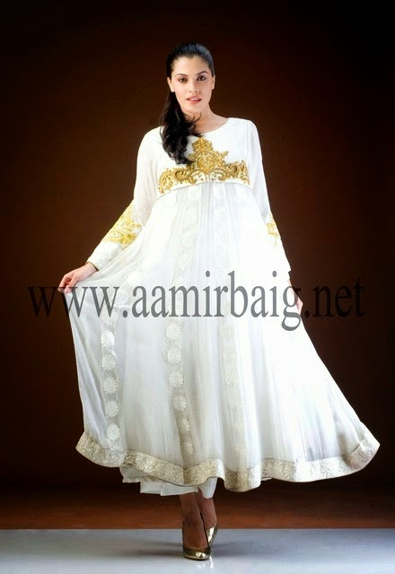 Aamir Baig Semi formal dress of Frocks and Gowns Collection