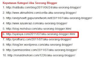 keputusan+contest+seo+aku+seorang+blogger MENANG CONTEST SEO & ACCIDENT LAGI