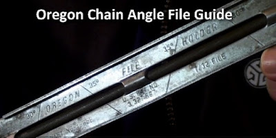 Oregon brand chainsaw chain filing guide