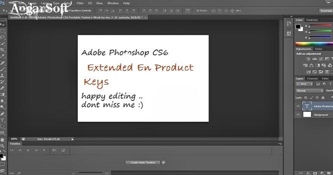 adobe photoshop cs6 extended en product keys angarsoft. Black Bedroom Furniture Sets. Home Design Ideas