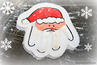Salt Dough Santa Handprints