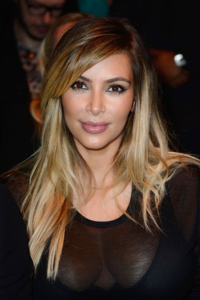 Kim Kardashian Long Hairstyles Layered Cut