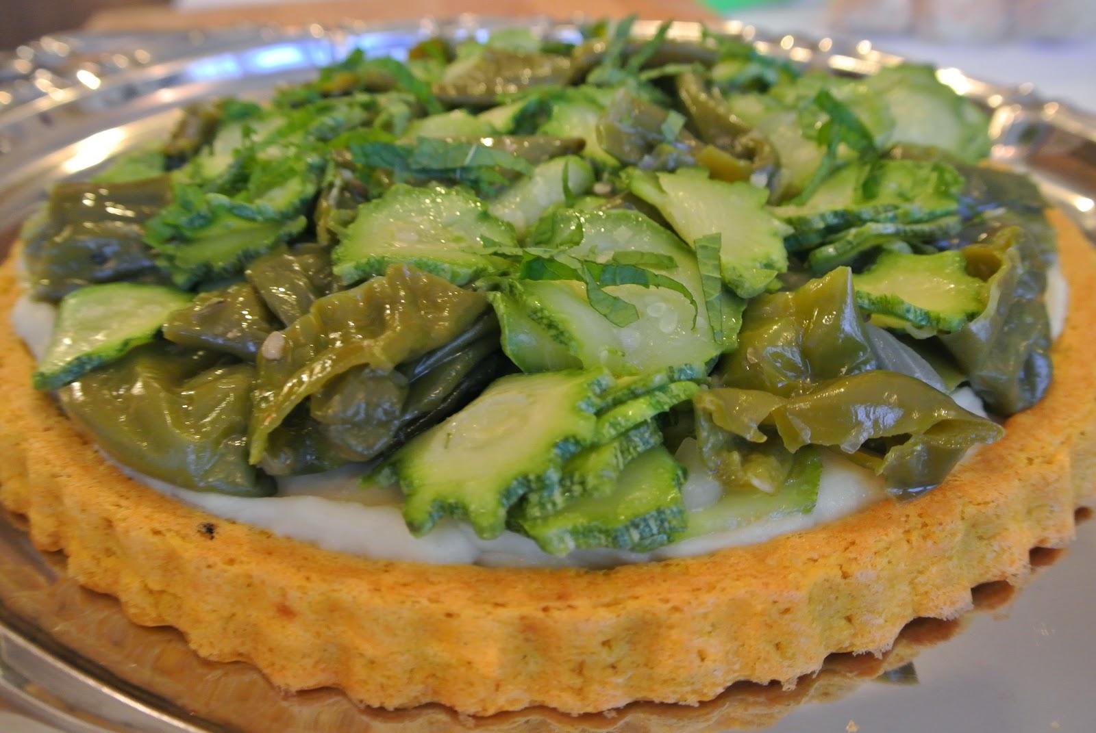 torta di legumi e vegetali