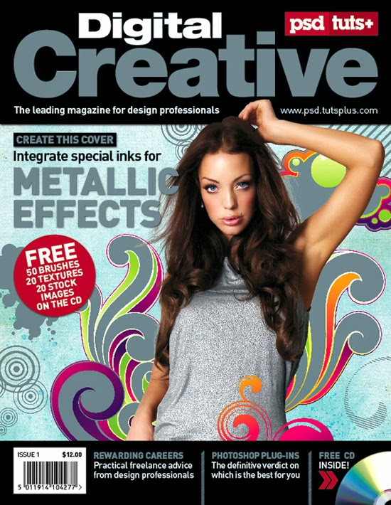 Five-Color Magazine Cover Using a Spot Metallic