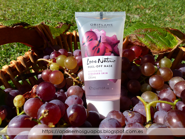 Mascarilla peel off de uva grape Oriflame A Ponernos Guapas