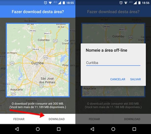 Como Baixar Mapas Offline do Google Maps no Android. - Gel ...