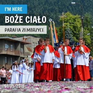 Uroczystości Bożego Ciała - Zembrzyce 31.05.2018