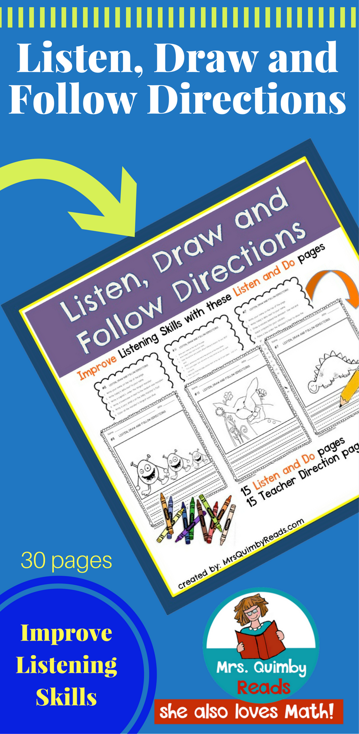 Listen, Draw and Follow Directions