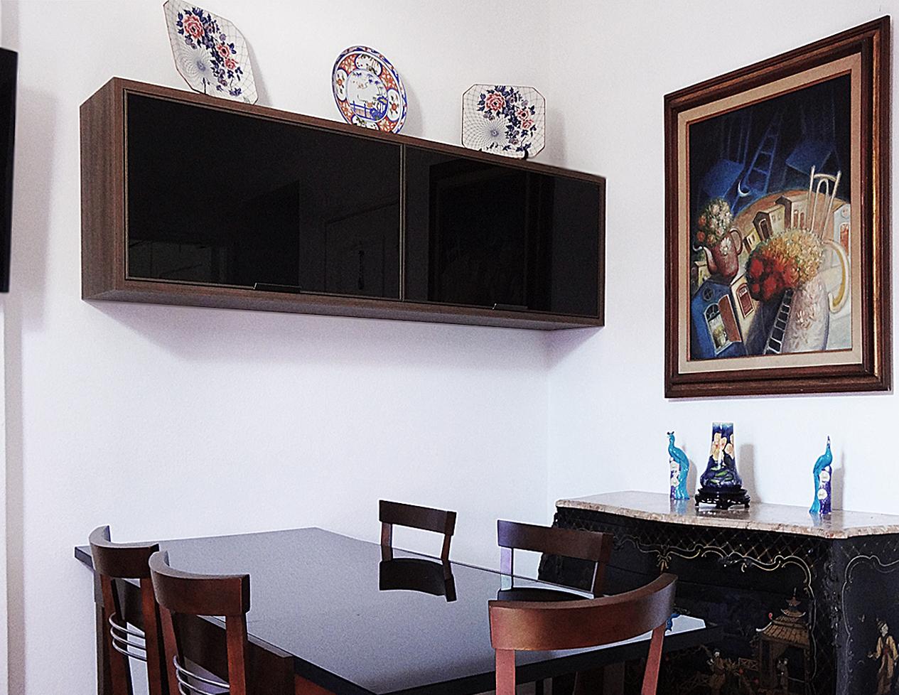 Aparador Suspenso Para Sala De Jantar Duas Propostas Bem Parecidas  -> Armario Estante Para Sala De Jantar