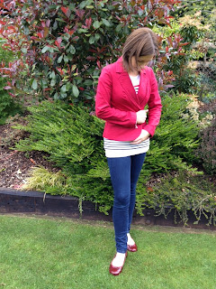 Red Blazer & Stripes