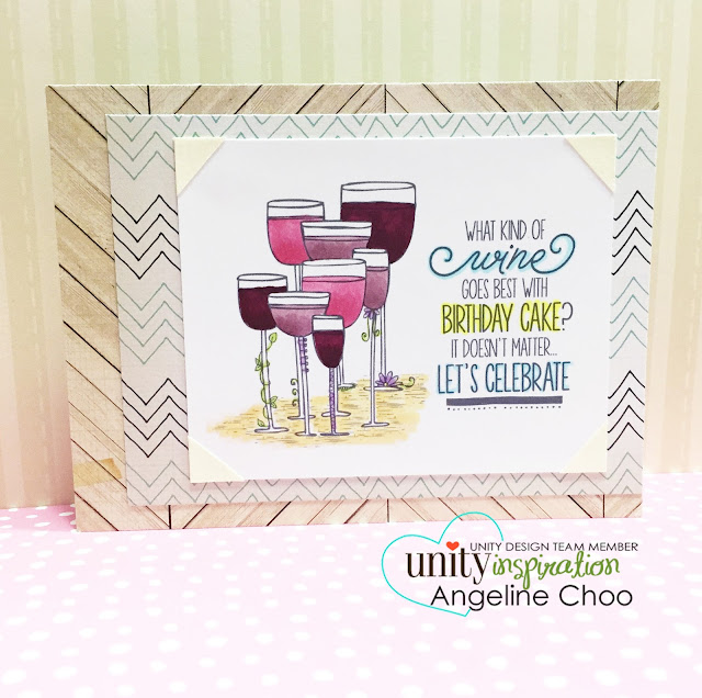 ScrappyScrappy: Wine and birthday cake #scrappyscrappy #unitystampco #card #copic #stamp #birthday #wine
