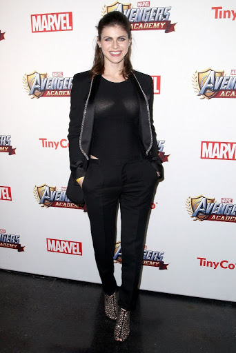 Alexandra Daddario – MARVEL Avengers Academy's Party red carpet dress