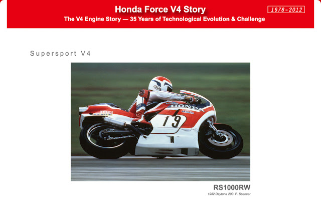 Honda RS1000RW on track.