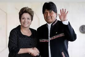Dilma e Evo Morales: aliança comunista até a morte