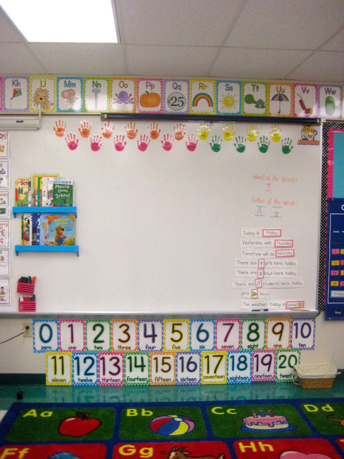 Kindergarten Calendar Interactive Whiteboard : Kindergarten smiles august