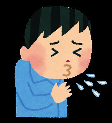 くしゃみをしている人のイラスト
