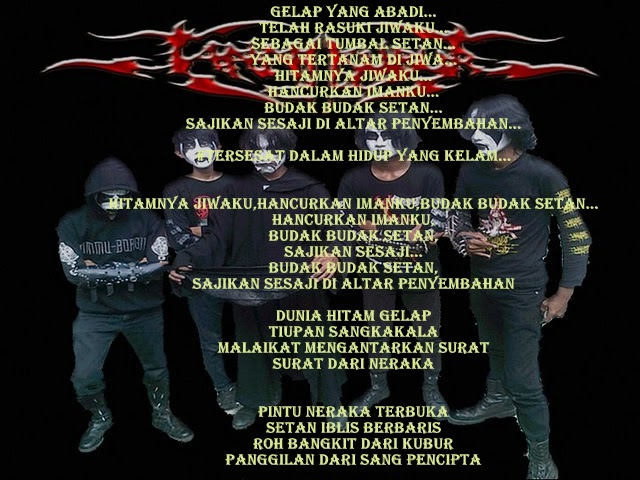 Tanah Kubur - Surat Dari Neraka ( Lyrics / Lirik Lagu Black Metal)
