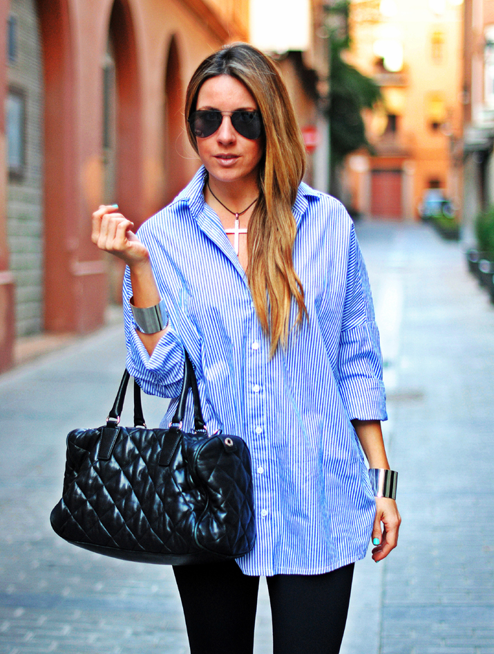 Camisa extralarge fashion blog