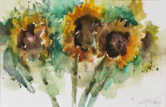 Sunflowers on Lake Panache