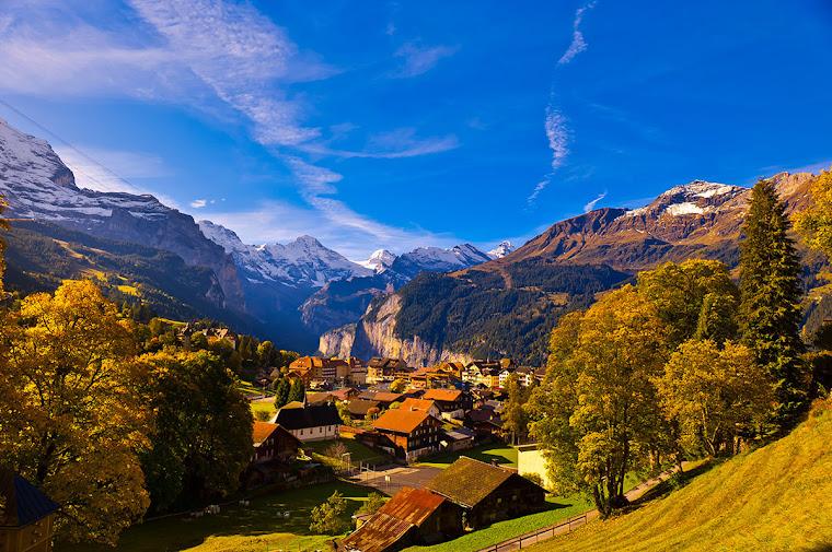 Wengen, Suiza. Foto tomada de internet.