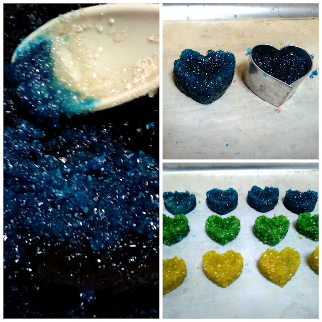 Terrones de azúcar de colores