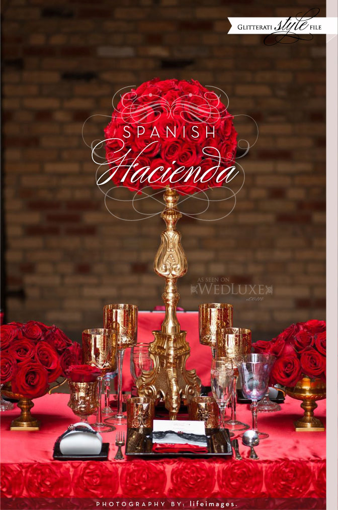the wedding decorator dramatic spanish style for weddings. Black Bedroom Furniture Sets. Home Design Ideas