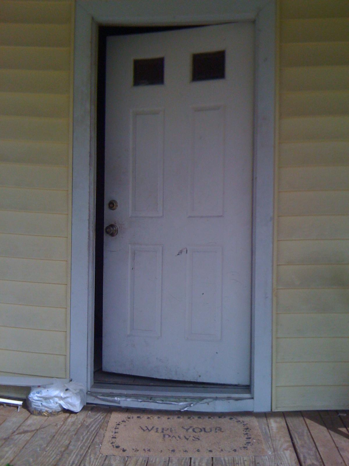 how to fix a warped door frame